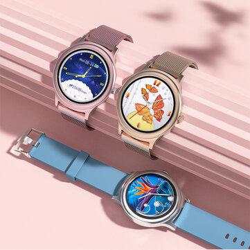 BlitzWolf BW AH1 Full touch Screen HR Blood Pressure Monitor 24 Sport Modes Custom Wallpaper Weather Push Female Elegant Smart Watch