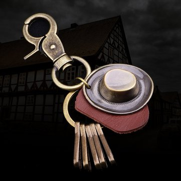 How can I buy Retro Punk Hat Car Keychain Leather Pendant Keychain Bronze Metal Keychain with Bitcoin