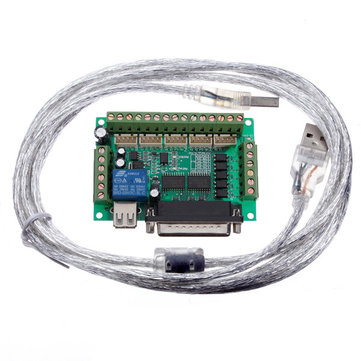 3Pcs Geekcreit® 5 Axis CNC Breakout Interface Board For Stepper Driver Mach3 With USB Cable