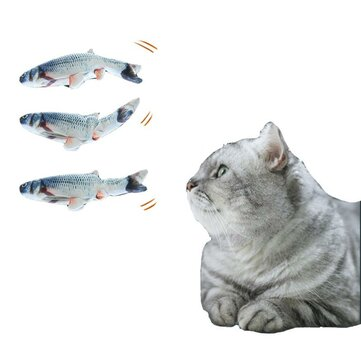 Cat Toys Electric Catnip Fish Cat Wagging Fish Realistic Plush Simulation Fish Chewing USB Charging Pet Supplies for sale in Litecoin with Fast and Free Shipping on Gipsybee.com