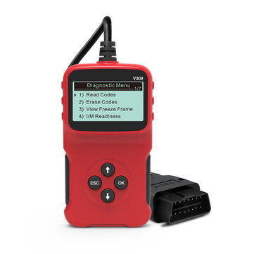 V309 Car OBD2 Scanner OBD Diagnostic Tool Automobile Engine Fault Code Reader Detector