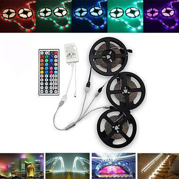 15M SMD3528 Bộ đèn dải băng LED RGB 900 chống nước + Bộ điều khiển 44 phím + Đầu nối cáp