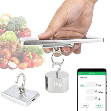 KCASA Portátil Móvil Mini Soporte para Teléfono de Cocina Báscula Electrónica Escala Comida Dieta Cocina Digital Escala Postal Báscula Cocina herramientas