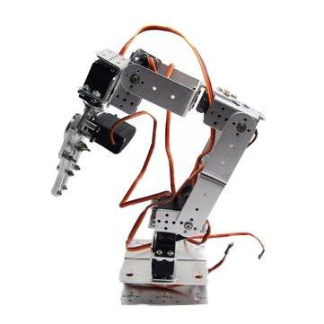 ROT2U 6DOF Aluminium Robot bras Pince Claw Kit de Montage avec Servos Pour Arduino-Silver