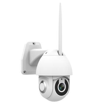 Bakeey V380 1080P Caméra IP intelligente extérieure à 355 ° PTZ Carte de stockage en nuage extérieure pour carte TF Onvif TF IP66 Système de caméra de surveillance avec moniteur de vitesse étanche Dome