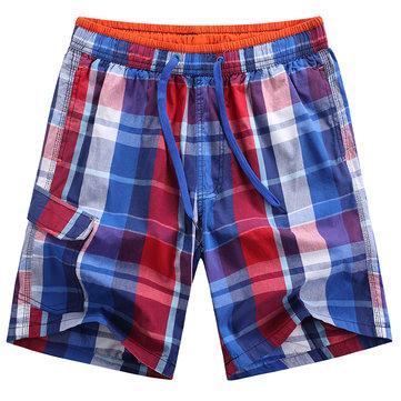 ग्रीष्मकालीन पुरुषों आरामदायक शॉर्ट्स फैशन कपास त्वरित सुखाने जाली समुद्र तट शॉर्ट्स