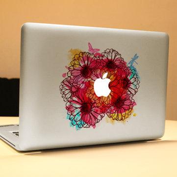 PAG Flowering Cây bụi Trang trí Máy tính xách tay Decal Có thể tháo rời Bong bóng Miễn phí Tự dính Da Nhãn dán