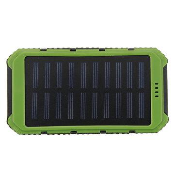 वाटरप्रूफ सौर एलईडी दोहरी यूएसबी पावर चार्जर बाहरी बैटरी चार्जर बॉक्स केस