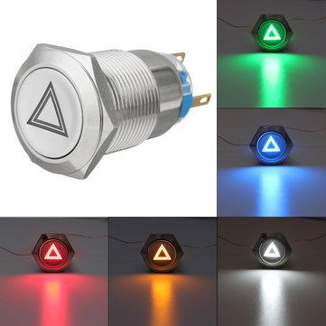 19mm 12V IP65 Interruptor Botão Interruptor Dome Light LED Interruptores ON / OFF