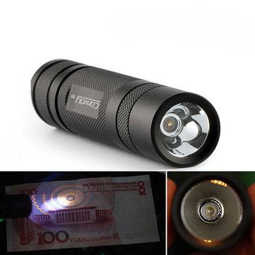 Convoy S2+ Nichia 365nm UV LED 1Mode OP Reflector Flashlight