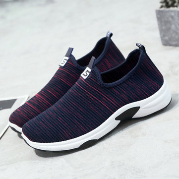 Women Mesh Walking Casual Slip On Sneakers