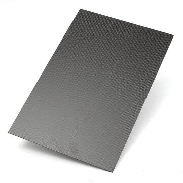 Suleve™ CF203015 3K 200×300×1.5mm Plain Weave Carbon Fiber Plate Panel Sheet Aircraft Model Building