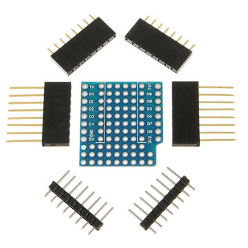 3Pcs ProtoBoard Shield Expansion Board For D1 Mini Double Sided Perf Board Compatible