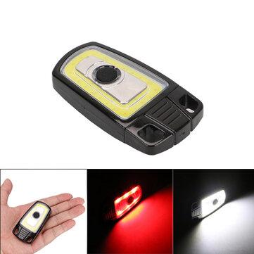 3W Mini USB Rechargeable COB LED Keychain Camping Light Handy Torch Pocket Flashlight