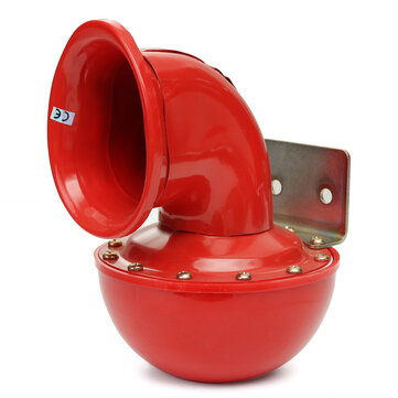 12V Metal Red Electric Bull Horn Super Loud Raging Sound w/ Pull Lever Car Truck