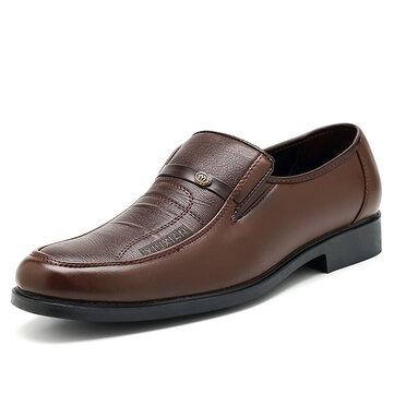 Hombre Casual Soft Zapatos de cuero de negocios Cómodo Zapatos formales