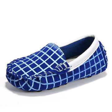 Scarpe per bambini Scarpe in pelle per bambini in pelle smerigliata Sneakers in pelle scamosciata in pelle di vitello per bambina. Slip on Mocassini