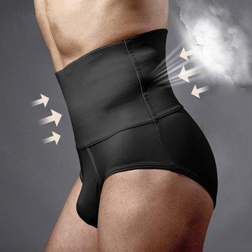 Body Sculpting Hips Lifting Fitness High Waist Underwear Shapewear Abdomen Shorts for Men