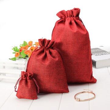 5pcs multi cores dom sacos de linho do vintage bolsa de festa de aniversário de casamento dom sacos de chocolate
