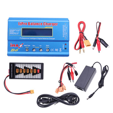 IMax B6 50W 5A Battery Balance Charger With 12V 5A Power Supply XT60 Parallel Board