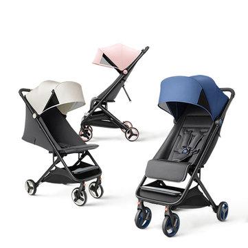 Original Xiaomi Mijia Baby Stroller Trolley Car trolley Folding Baby Carriage Foldable Portable Traveling Pram Baby Pushchair Stroller