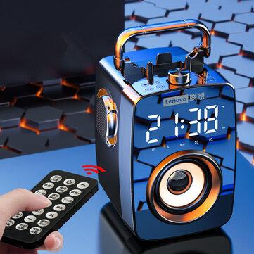 Lenovo L033 bluetooth Speaker Alarm Clock Digital Display DSP 5.0 3D Sound Bass Subwoofer FM Radio Clock Soundbar for Bedroom