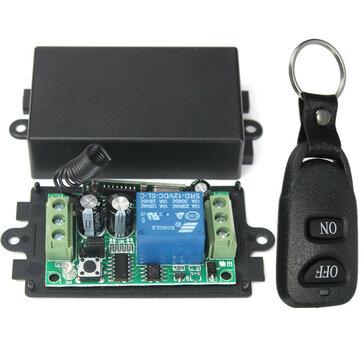 Geekcreit® 433MHz DC 12V 10A रिले 1CH चैनल वायरलेस आरएफ रिमोट कंट्रोल स्विच ट्रांसमीटर रिसीवर के साथ