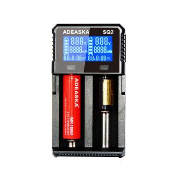 ADEASKA SQ2 Intelligent LCD Display USB Rapid Battery Charger for IMR/Li-ion Ni-MH/Ni-Cd Battery
