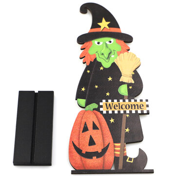 Buy Wooden Horror Witch Figurine Halloween Decoration Pendant Ornaments For Party Home Decoration with 7 on Gipsybee.com
