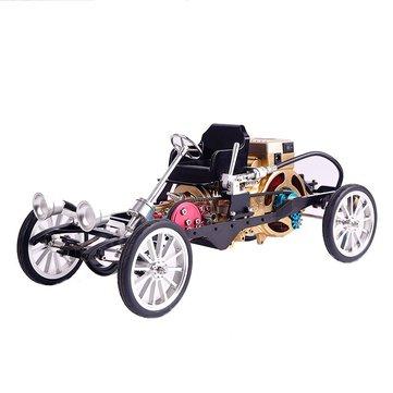 Teching Coche Modelo Single Cylinder Motor Aleación de Aluminio Modelo Colección de Regalo Juguetes