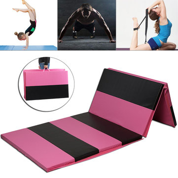 118×47×2inch Folding Gymnastics Mat Yoga Exercise Gym Airtrack Panel Tumbling Climbing Pilates Pad Air Track