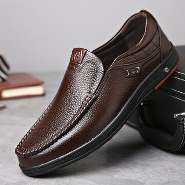 Comfy Casual Business Genuine Leather Slip Soft Oxfords