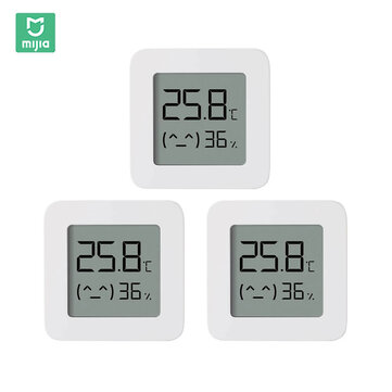 3PCS XIAOMI Mijia Bluetooth Thermometer 2 Wireless Smart Electric Digital Hygrometer Thermometer Work with Mijia APP