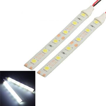 2pcs Waterproof רצועת LED אורות 10cm 6 LED 5050 גמיש 12V עבור אופנוע סירה