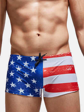 How can I buy 4 Patterns Mens Ethnic Style USA Flag Drawstring Beach Swimming Trunks with Bitcoin
