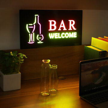 LED Hanging Sign Advertising Light Board Pub Club Party Door Window Display Lamp US Plug AC110 240V for sale in Litecoin with Fast and Free Shipping on Gipsybee.com
