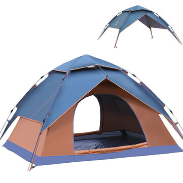 Buy 2 Modes 3-4 Person Fully Automatic Tent Camping Travel Picnic Rainproof UV Sunshade Canopy with Litecoins with Free Shipping on Gipsybee.com