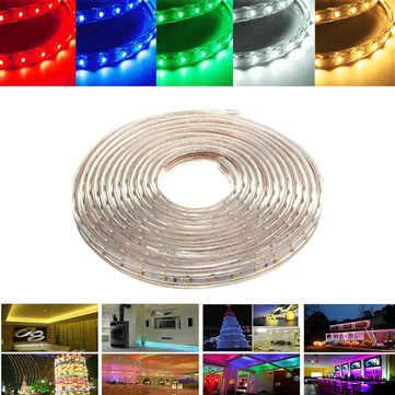 6M 21W Waterproof IP67 SMD 3528 360 LED Strip Rope Light Christmas Party Outdoor AC 220V