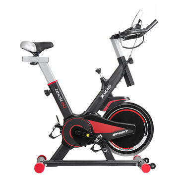Xmund XD XB1 LCD Exercise Bike Indoor Cycling Ultra quiet Adjustment Sports Bicycle Fitness Equipment with Wheels Max Load 130kg