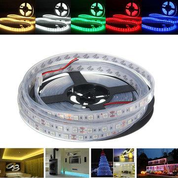 5M SMD5050 300 Impermeable IP67 LED Flexible cinta de la luz de la casa de vacaciones Decoración de la barra de la lámpara 12V