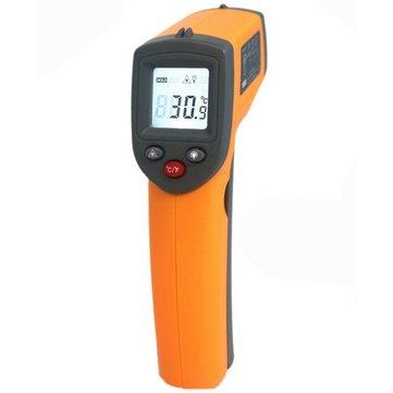 GS320 termometro a infrarossi pistola tester di temperatura automatica del sensore senza contatto -50 ° C ~ 360 ° C / -58 ° F ~ 680 ° F IR LCD digitale laser