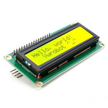 Geekcreit® IIC/I2C 1602 Yellow Green Backlight LCD Display Module For Arduino