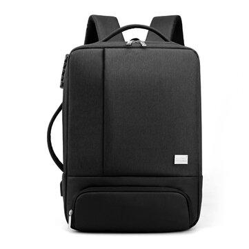 35L USB Backpack 15.6inch Laptop Bag Waterproof Anti_theft Lock Travel Business School Bag