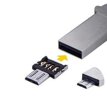 オリジナルDM埋め込みマイクロUSB V8オスUSB OTGアダプタ変換