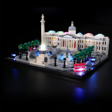 YEABRICKS DIY LED Light Lighting Kit ONLY For LEGO 21045 Trafalgar Square Block Bricks Toy