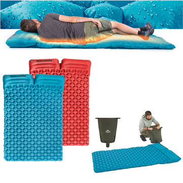 Naturehike NH17Q020 Double Moisture-proof Mat Camping Tent Inflatable Sleeping Pad With Pillow