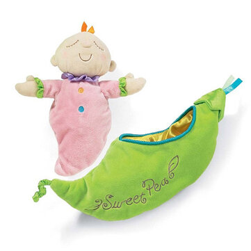 Los niños de guisante de bebé de peluche de juguete de los niños de snuggle vaina dormir placate muñeca