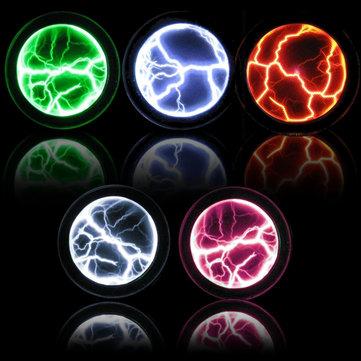 Colorful Plasma Disk Fancy Mini Pocket Plasma Disk Sensor Light Plate Home Disco Party Decoration PVC&Glass Performance