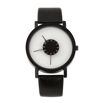 Unisex Fashion Quartz Wrist Watch Men Women Lovers PU Leather Strap Couple Watch