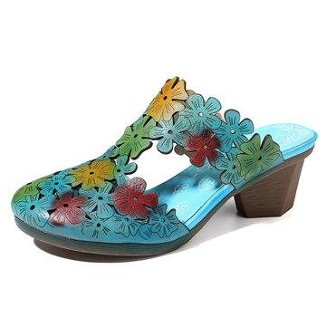 Le grandi donne di Socofy scavano fuori le pantofole comode eleganti floreali